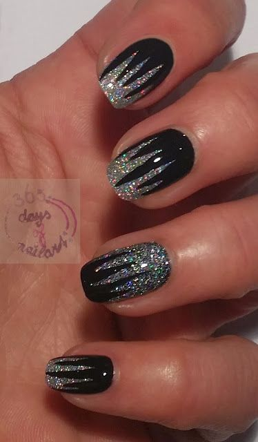 365 days of nail art : Day 301) Wild and edgy nails