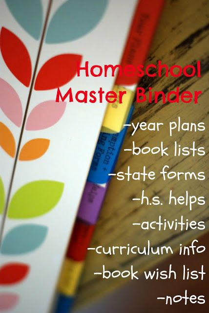 the master homeschool binder - This will be very useful come next school year, the first year I will TRULY be homeschooling.