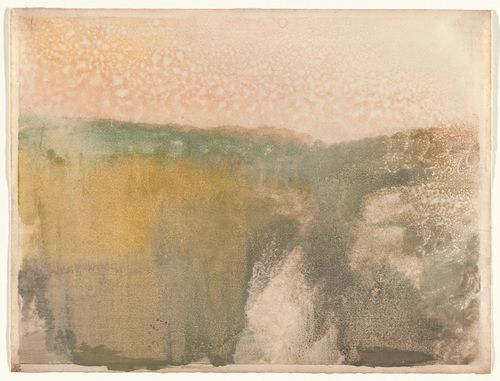 cacaotree:  Hilaire-Germain-Edgar Degas (French, 1834–1917)Green Landscape c. 1890. Monotype