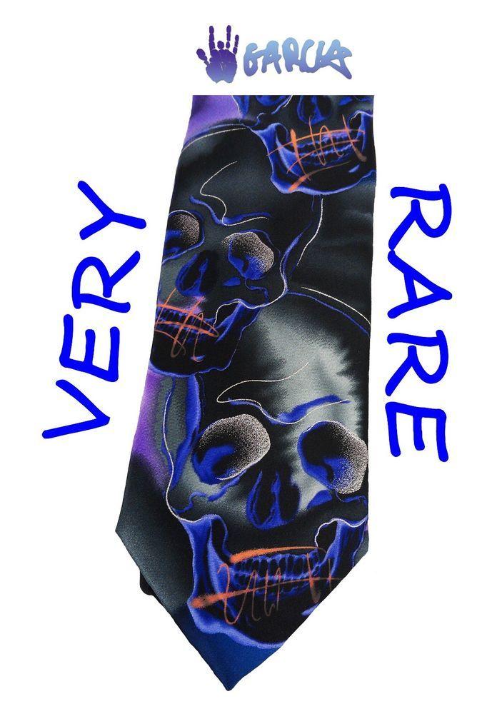 48ab5acccc37 Jerry Garcia Tie Plague Entity Collectors Ed Purple NEW Skulls J. Garcia  RARE #JerryGarcia #Tie