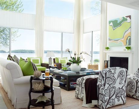 White + Green - Love the windows