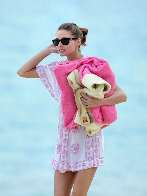 massive pink beach towel/blanket.