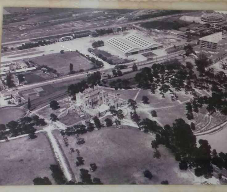 Vista aerea del Castillo Palomar  1959