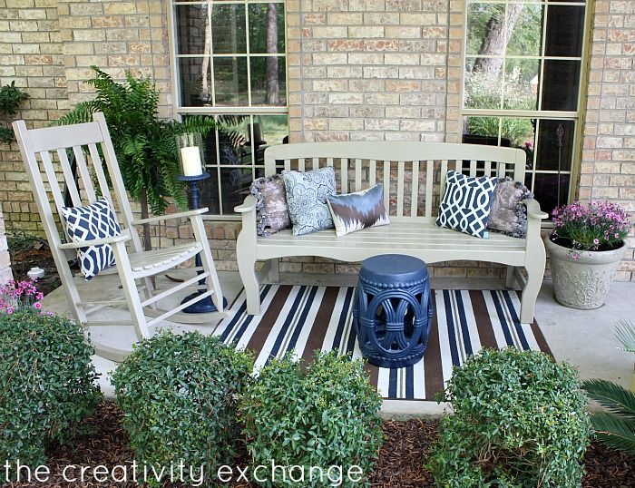 Exceptional Front Porch Revamp  How To Spray Paint Outdoor Furniture