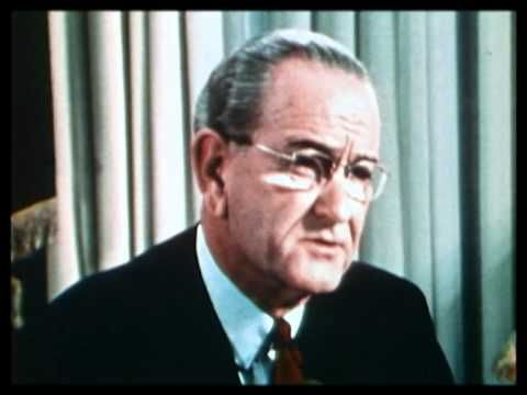President Johnson announces he will not run for re-election in 1968