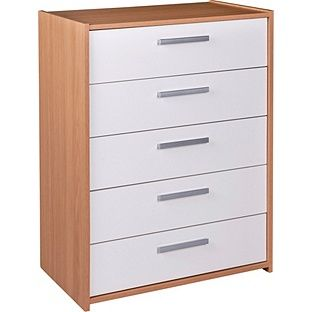 Buy HOME New Sywell 5 Drawer Chest - Oak Effect and White at Argos.co.uk, visit Argos.co.uk to shop online for Chest of drawers