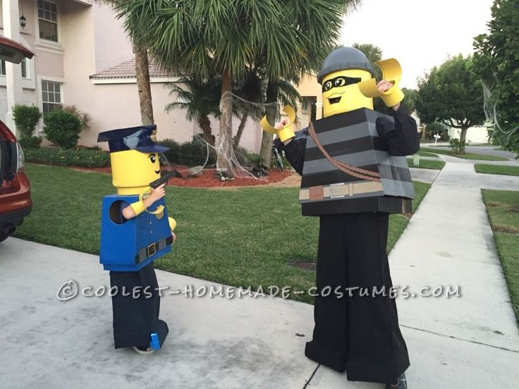 Cool Father/Son Costume: Lego City Police Officer and Burglar...