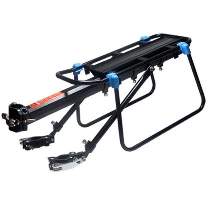 Upgrade Multifaction Quick-Unload Bike Carrier Rack Seat 160LB Capacity Adjustable Cycling Cargo Racks Aluminum Alloy Stand Bike Shelf Black. FREE SPORTS MGAIC SCARF WITH EVERY ORDER! ★ 100% MONEY BACK GUARANTEE . If you don't love your order,then you can return goods to us or replace it.No Questions Asked. High quality aviation aluminum alloy-- Upgraded load capacity & support design.Most safety,includes Red Rear Reflector Lamp, Tied Rope, and Large Flank. Size:55*14.5cm,adjustable…