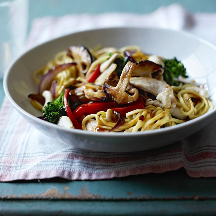 Chicken stir fry is very quick and easy to make, with plenty of flavour and healthy vegetables.