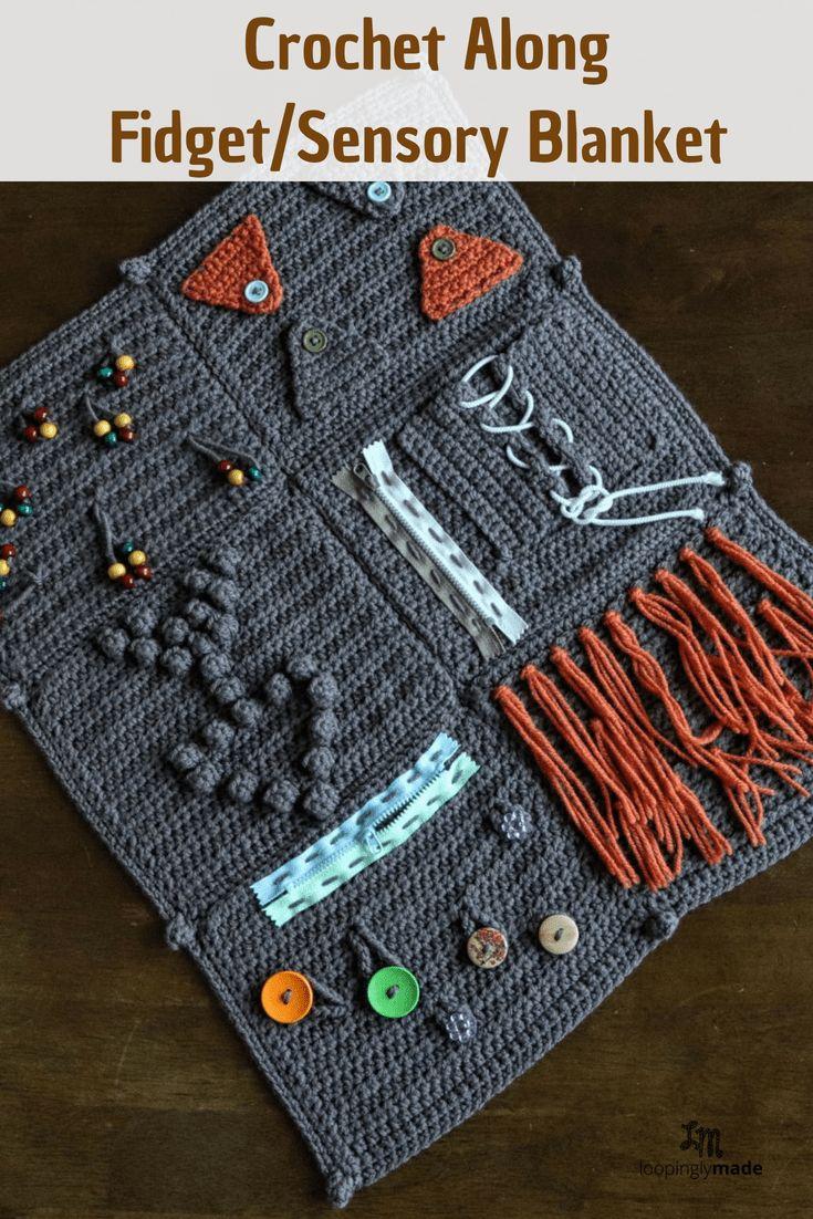 Crochet Along Fidget Sensory Blanket For Alzheimer S Part