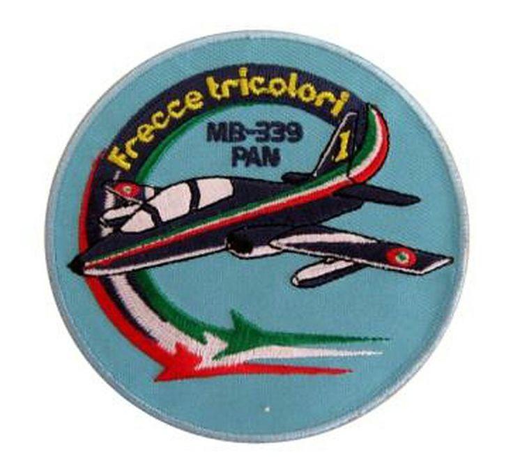 Patch ufficiale Aeronautica Militare. Pan Frecce Tricolori con retro termoadesivo. www.labottegadeldido.com