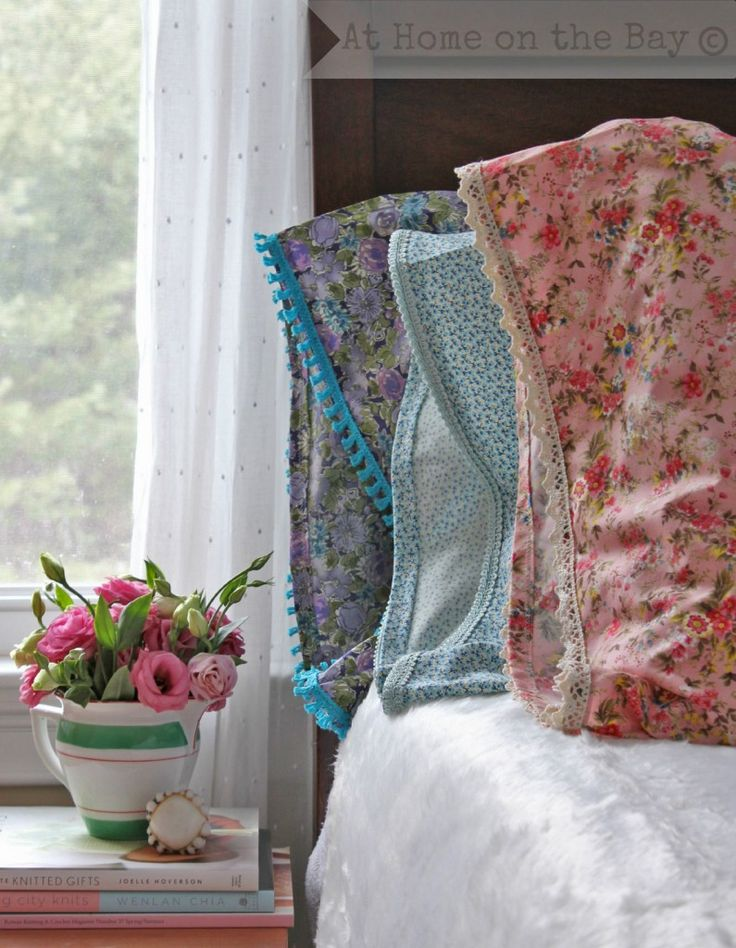 DIY Lace Trimmed Pillow Cases Tutorial: At Home on the Bay
