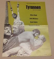 """Fury"" Oliver Reed Claudia Cardinale McEnery 1973 Danish Movie Press Release Kit"
