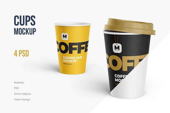 Coffee Tea Cup Mockup 4 Psd Graphics Design Ideas Mockup Coffee Cups