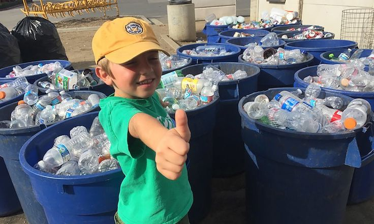 Ryan Hickman started Ryan's Recycling Company in California at three years old and now, at seven years old, has recycled around 200,000 bottles and cans.