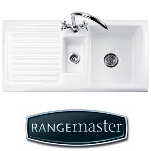 rangemaster rustique 15 bowl white ceramic kitchen sink waste lhd crs10202lwh preview. Interior Design Ideas. Home Design Ideas