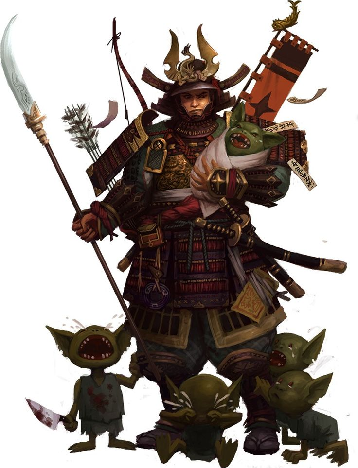 Samurai, goblin babies