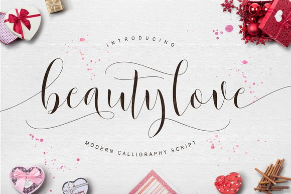 Beautylove script fonts graphics and modern calligraphy