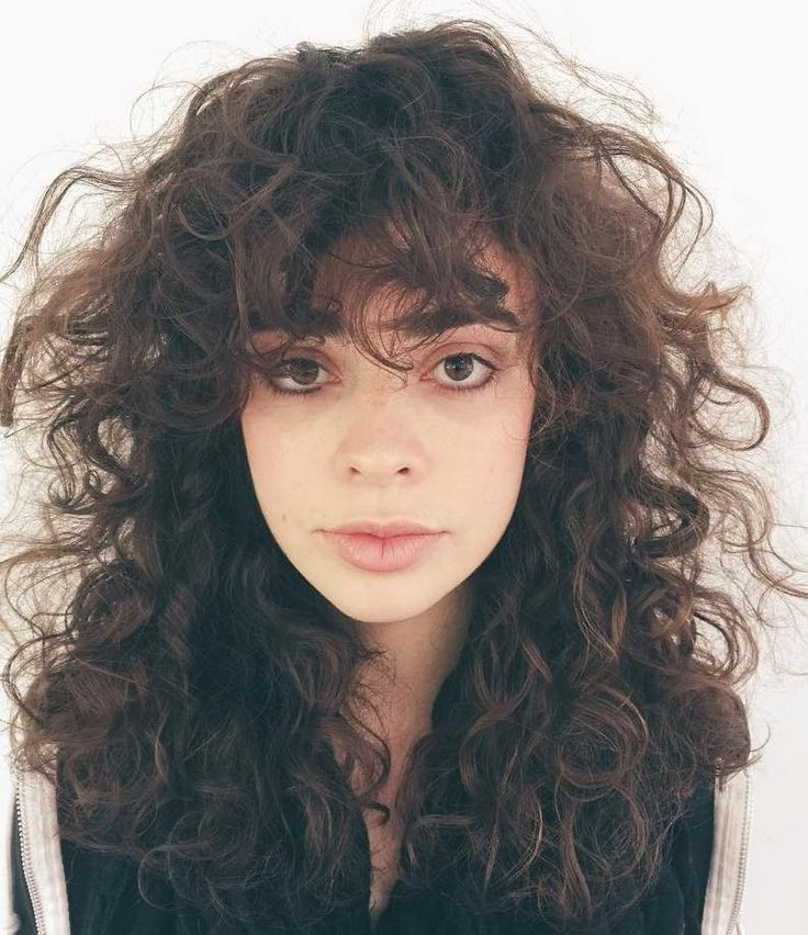 how to get curly bangs