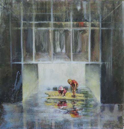 Zoltán Agócz, akryl a olej na plátně