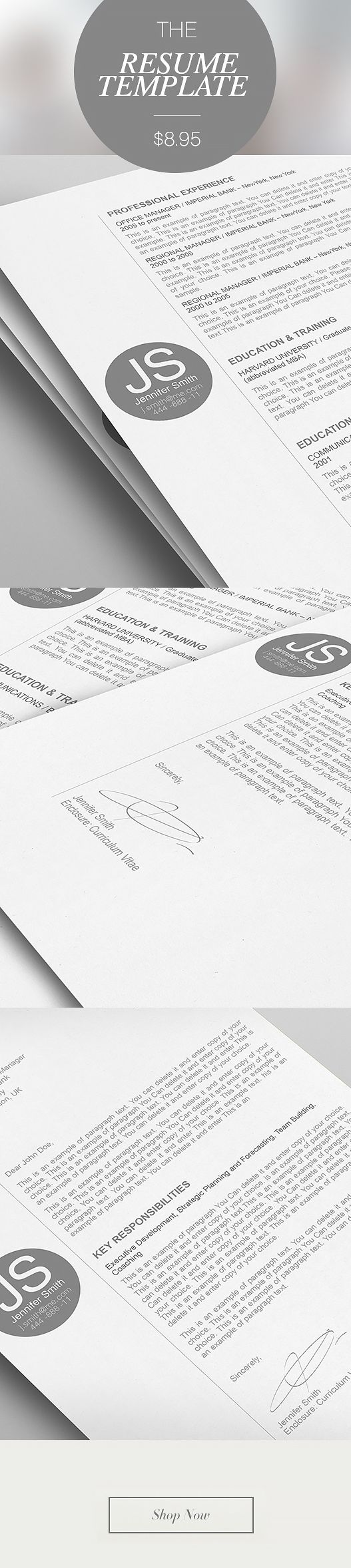 20 best images about elegant resume templates on pinterest