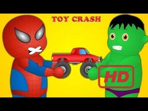 Spiderman Finger Family (Spiderman Vs Hulk) Finger Family (Truck) Nursery Rhymes  #KAB - YouTube
