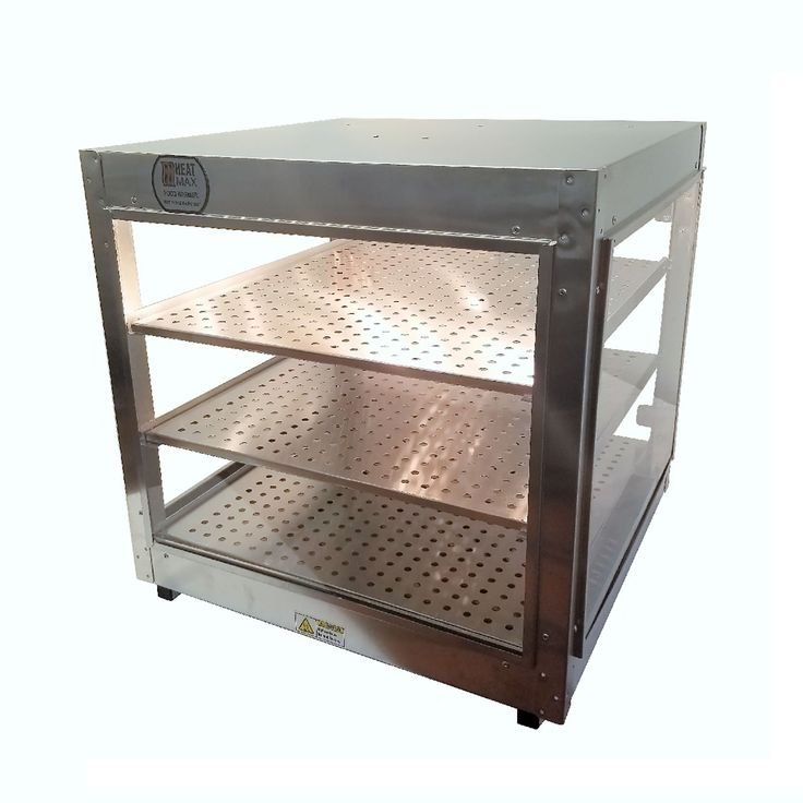 Heatmax Commercial 24 x 24 x 24 Countertop Food Pizza Pastry Warmer Display Case