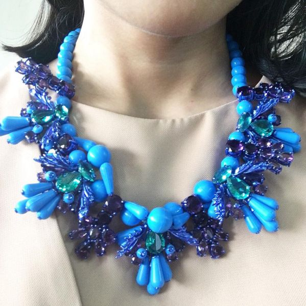 #KRAVEMAS #8 @ekthongprasert Silicone Necklace in Bleu.  Christmas trinkets at its best! Extra special price exclusively through our concierge!