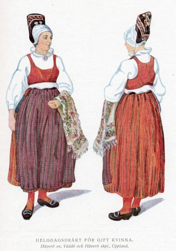 Swedish folk dress of Havero, Uppland