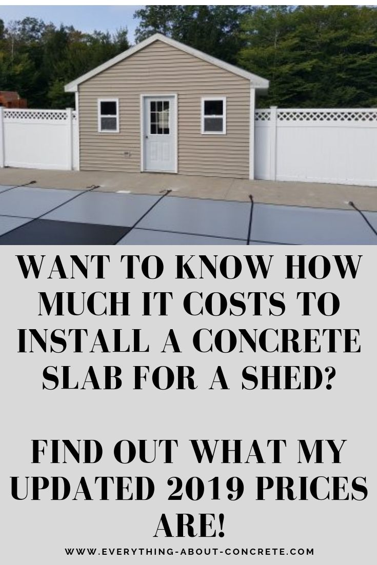 My Concrete Slab Cost For A Shed