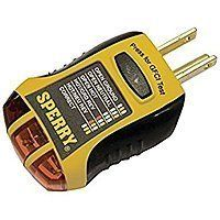 Sperry Instruments GFI6302 GFCI Outlet/Receptacle Tester $5.95