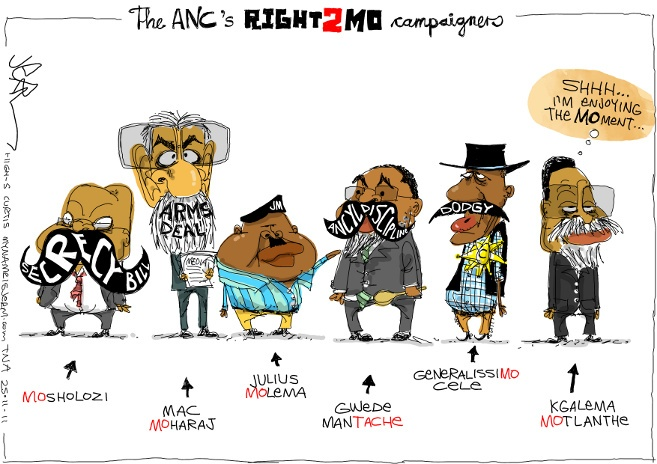 Jerm - Movember, ANC, and Right2Know campaigners
