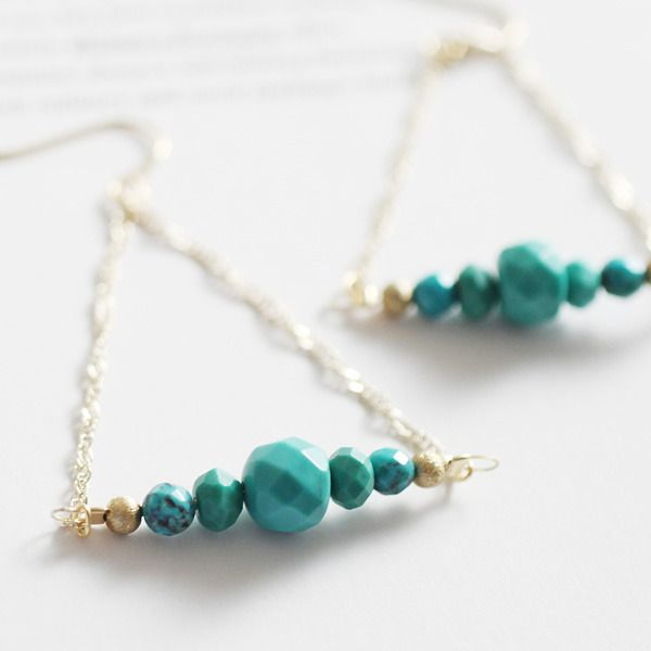 Joli&Micare ジョリーアンドミカーレ ターコイズピアス / Turquoise Earrings on ShopStyle