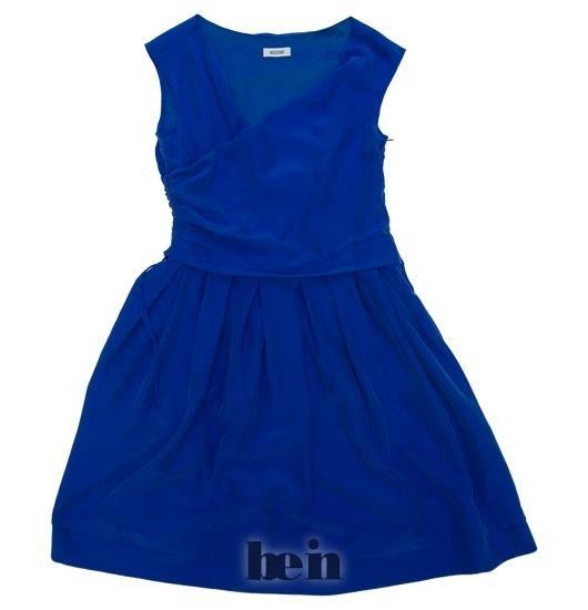 Синее платье москино