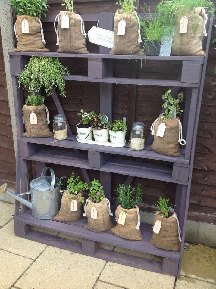 Wonderful Garden Shelves From Pallets | Recycling Pallets | Pinterest | Garden Shelves,  Pallets And Shelves
