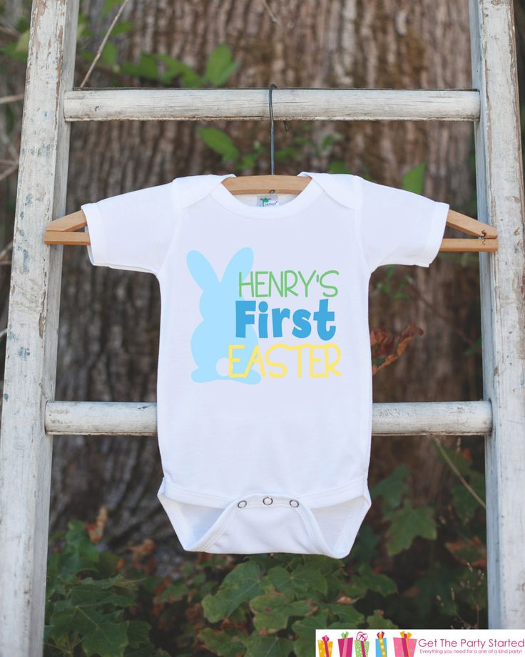 Best 25 babys first easter boy ideas on pinterest baby easter easter shirt for baby boys personalized 1st easter onepiece boys easter outfit first negle Gallery