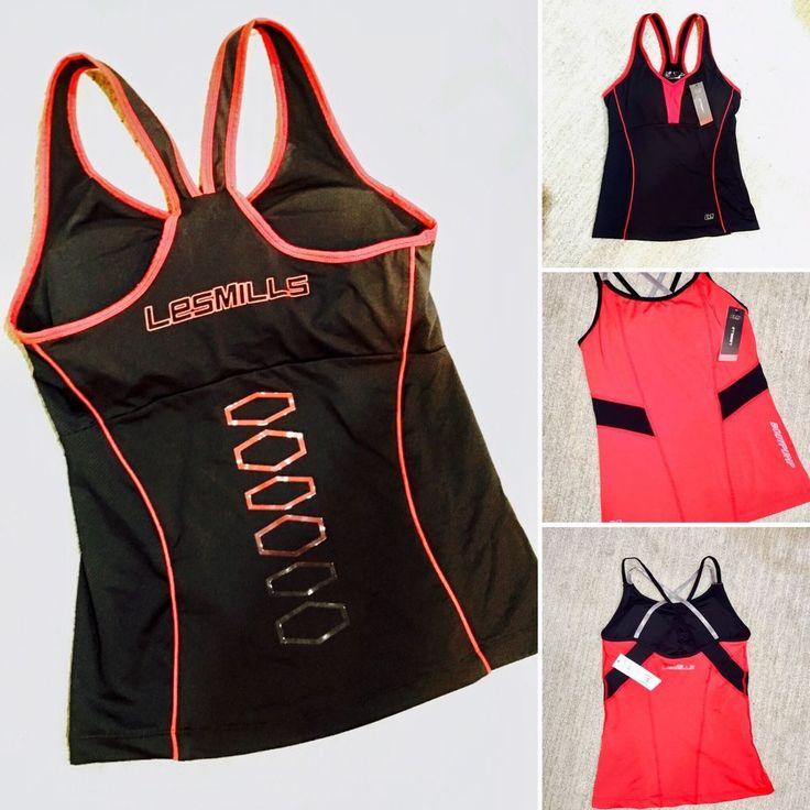 Les Mills BODYPUMP Tanks (2 Items) Fitness Gym Strength Sport sz Med  | eBay