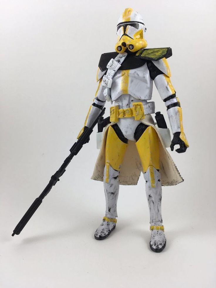 Custom Star Wars Black Series 6in Clone Commander Bly figure jedi sith cody rex