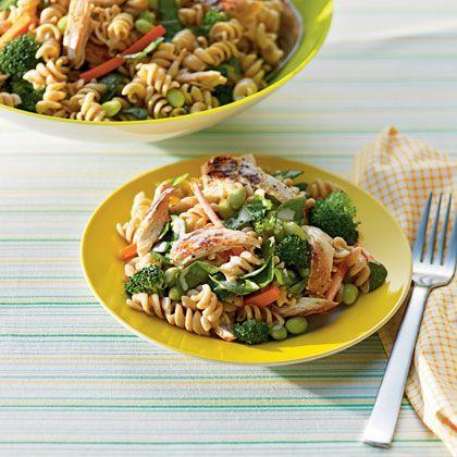 Garden Pasta Salad with Chicken: Chicken Recipes, Pasta Salad, Pasta Recipes, Chicken Salads, Gardens, Yummy, Chickensalad, Food Treats Recipes