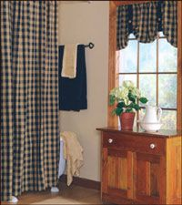 Homespun Shower Curtain In A Variety Of Fabric Choices With Coordinating Country Curtains And More