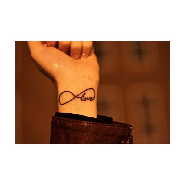 Ideen zur gestaltung eines Infinity-Tattoos ❤ liked on Polyvore featuring accessories and body art
