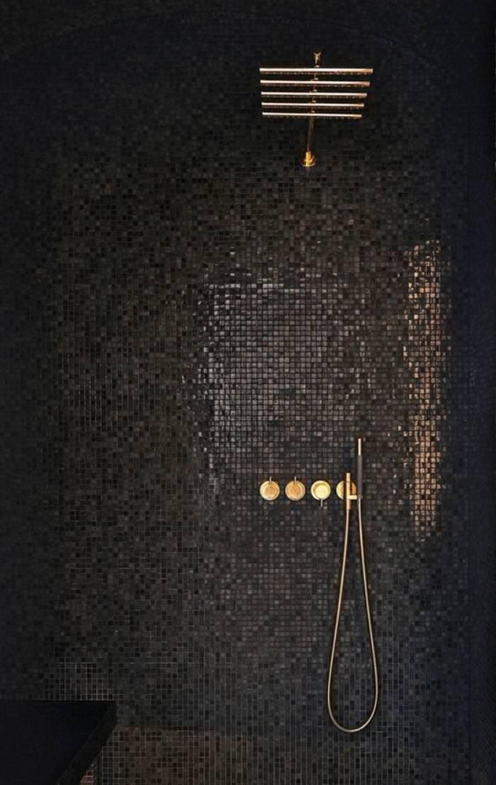 Bagno Mosaico Nero.Mosaico Bagno 100 Idee Per Rivestire Con Stile Bagni