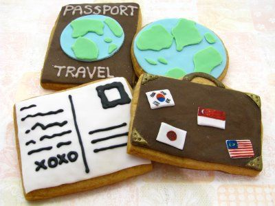 Kim could make these so much cuter, but i liked the travel theme. :)