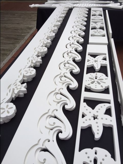 House Trim, porch trim, fence trim, window trim, accent trim. Made from all weather PVC that won't yellow, rust, warp and has UV inhibitors for years of durability! http://www.islandcreekdesigns.com email: info@islandcreekdesigns.com