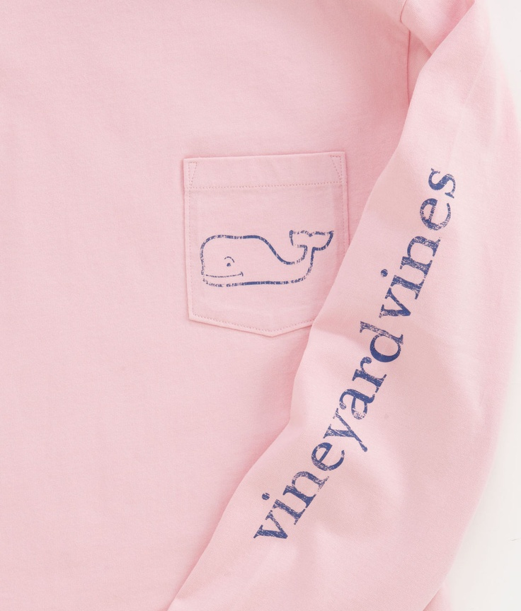 Vineyard Vines Long-Sleeve Vintage Whale Graphic T-Shirt in Conch. I know its a guy shirt but it looks so comfy and cute! I'd wear it any day.