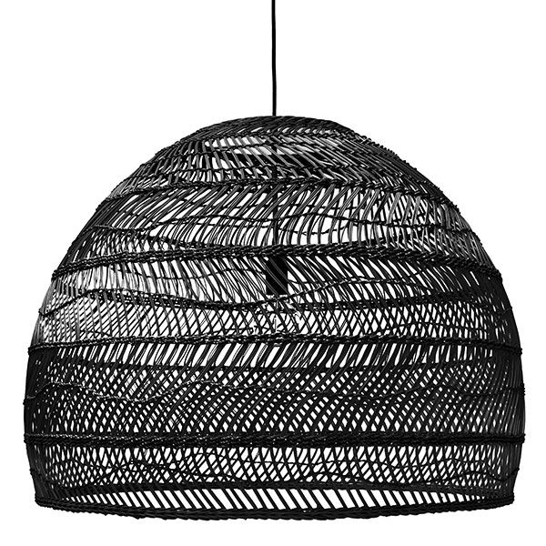 Products details - Lighting - Wicker hanging lamp ball black L
