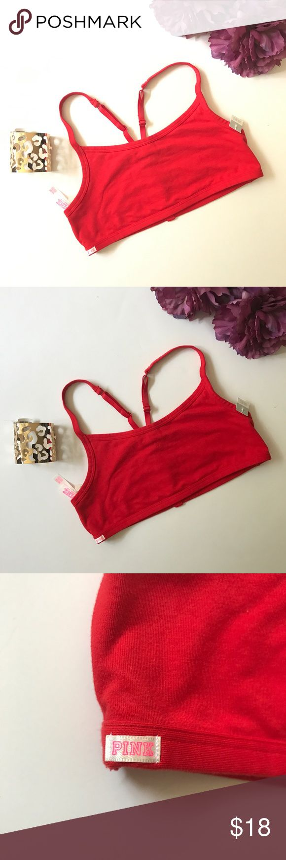 PINK Victoria's Secret red Sport bra size M This is a new with tags sports bra by PINK Victoria's Secret. Red color.  Size Medium. For more VS/ and more brands, new with tags and preloved/gently used items check out my closet ❤️ Bundle and save. This listing is ONLY for the Bra. If you're interested in anything else please let me know 😉 Victoria's Secret Intimates & Sleepwear Bras