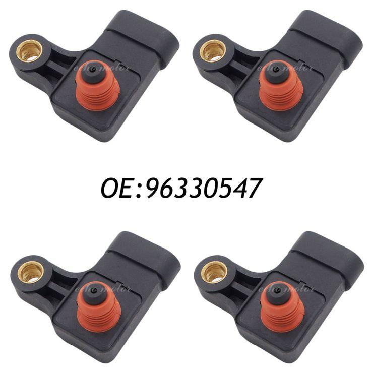 New 4PCS Manifold Absolute Pressure MAP Sensor For Chevrolet Aveo Aveo5 DAEWOO Kalos Matiz 25184081 96330547
