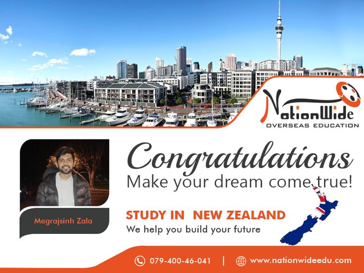 Congratulations to Megrajsinh Zala on his achievement of visa approval for New Zealand! All the best for a new beginning. We Nationwide Overseas Education feel the honor to assist him in the successful processing of his student visa.  http://www.nationwideedu.com/2018/01/03/congratulations-getting-student-visa-overseas-study-new-zealand-2/  #StudyInNewZealand #visaconsultant #NationWide