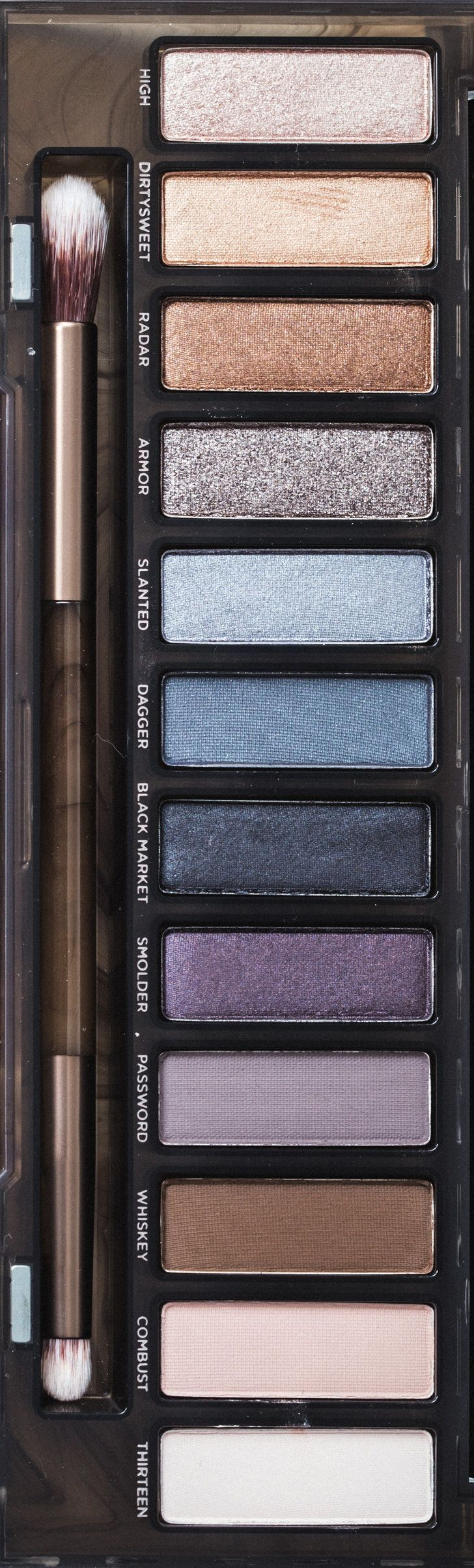 Urban Decay is launching the new Naked Smoky Palette this Summer! Get a close up view of all the new eye shadow shades (plus a few re-released colors). The textures range from shimmer to matte. You can create a blue, purple, neutral, or classic smoky eye using all these amazing shades. Plus, get our smoky eye makeup tutorial.